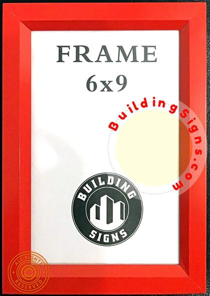 Frame RED Elevator Inspection Certificate Frame