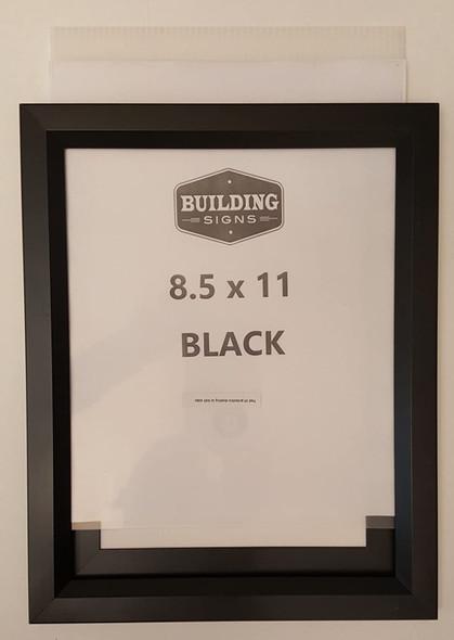 Black Elevator Inspection Certificate Frame