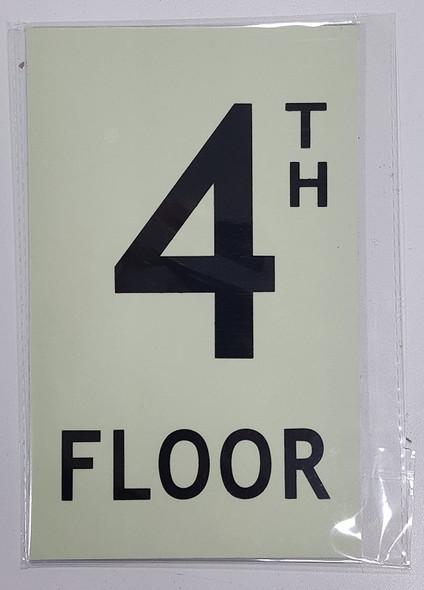 """Floor number 4  HEAVY DUTY / GLOW IN THE DARK """"FLOOR"""