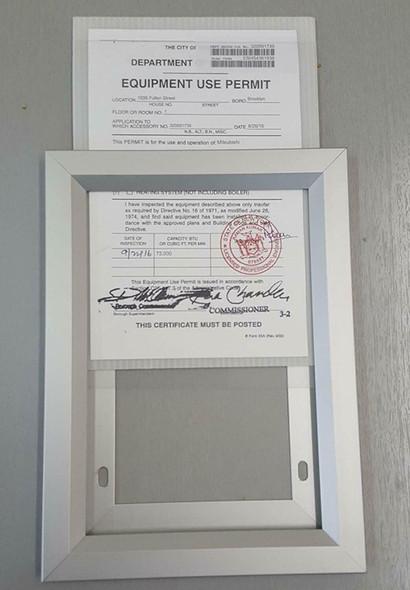 HPD Escalator Permit Frame