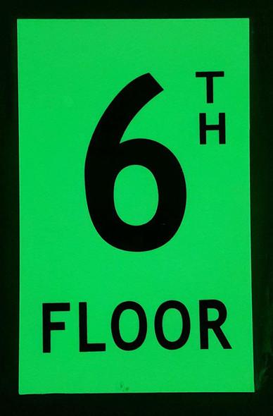 Floor number six 6)  HEAVY DUTY / GLOW IN THE DARK