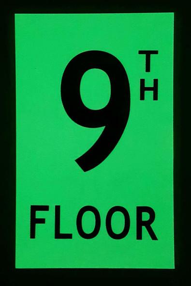 Floor number Nine 9)  HEAVY DUTY / GLOW IN THE DARK