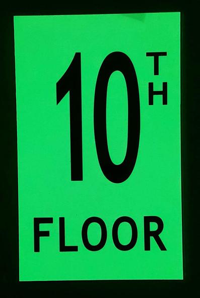 Floor number TEN 10)  HEAVY DUTY / GLOW IN THE DARK