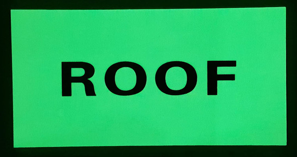 """ROOF  Signage HEAVY DUTY / GLOW IN THE DARK """"ROOF""""  Signage HEAVY DUTY"""
