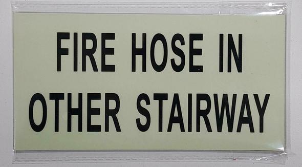 GLOW IN THE DARK FIRE HOSE IN OTHER STAIRWAY HEAVY DUTY