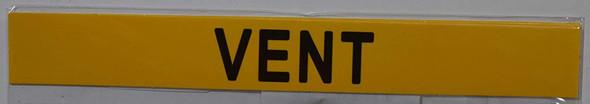 Set of 5 PCS - Pipe Marking- Vent  Signage