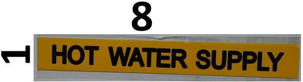 Pipe Marking- Hot Water Supply -Set of 5 PCS