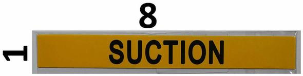 Set of 5 PCS - Pipe Marking- Suction  Signage