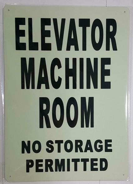 ELEVATOR MACHINE ROOM  GLOW IN THE DARK