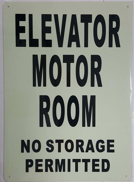 ELEVATOR MOTOR ROOM  GLOW IN THE DARK