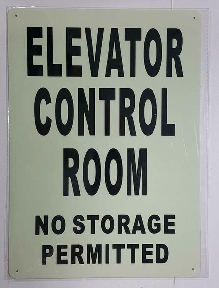 ELEVATOR CONTROL ROOM  GLOW IN THE DARK
