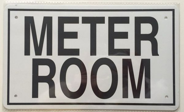METER ROOM  Signage White