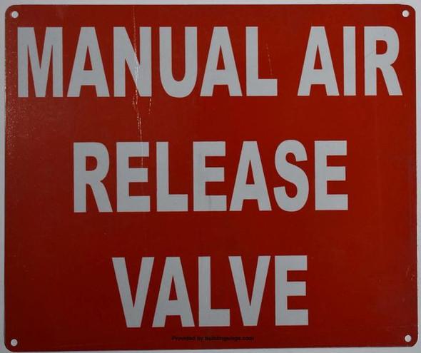 MANUAL AIR RELEASE  Signage
