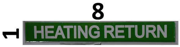 Set of 5 PCS - Pipe Marking- Heating Return Sign