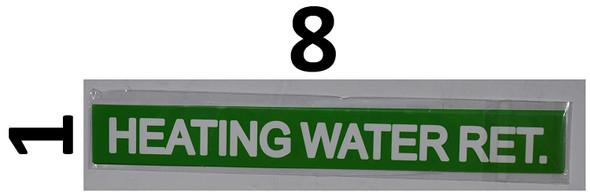 Pipe Marking- Heating Water-Set of 5 PCS