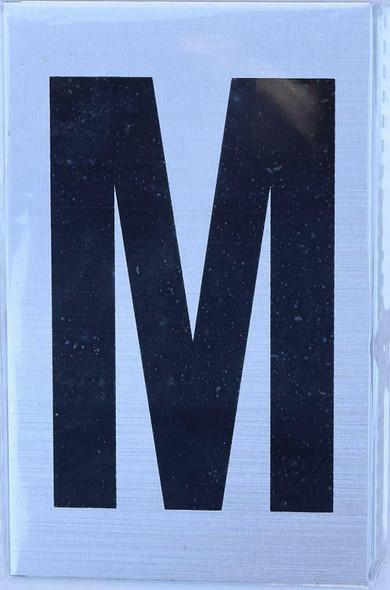 Apartment Number  Signage - Letter M