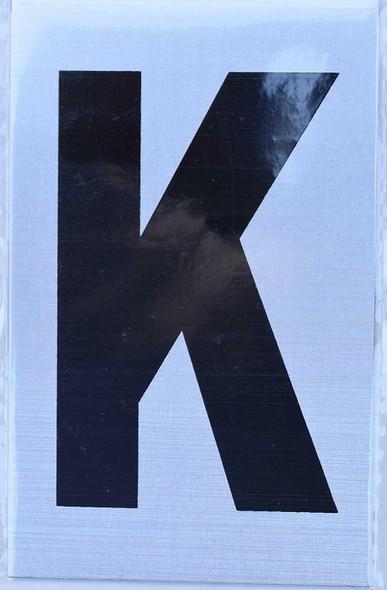 Apartment Number  Signage - Letter k