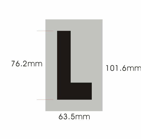 Apartment Number  Signage - Letter L