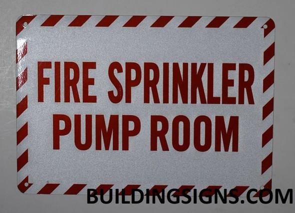 FIRE Sprinkler Pump Room  Signage