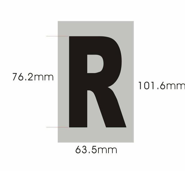 Apartment Number  Signage - Letter R