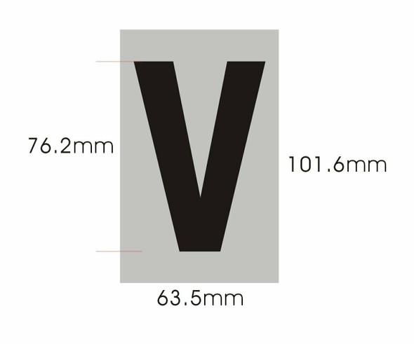 Apartment Number  Signage - Letter V