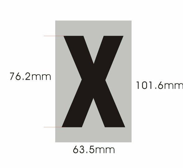 Apartment Number  Signage - Letter X