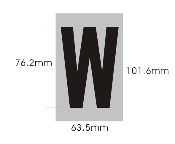 Apartment Number  Signage - Letter W
