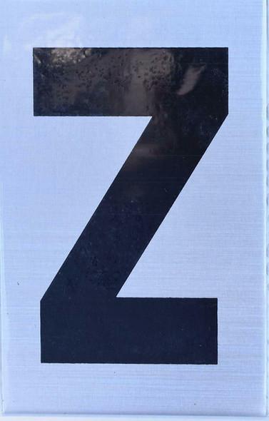 Apartment Number  Signage - Letter Z