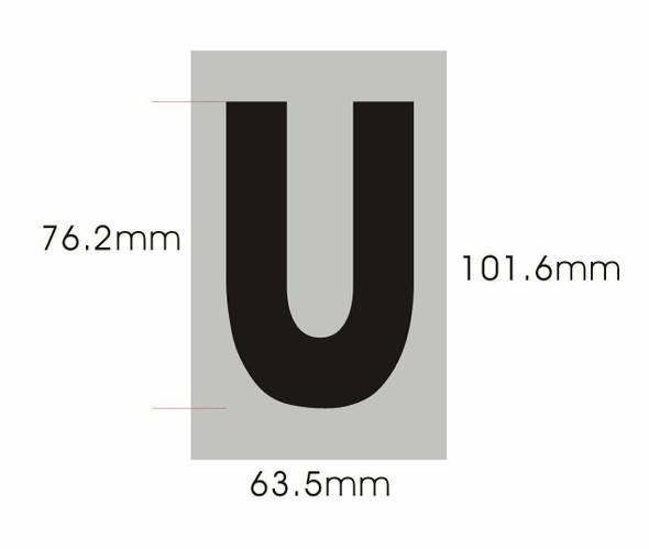 Apartment Number  Signage - Letter U