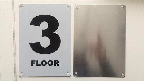 Floor number 3  Signage