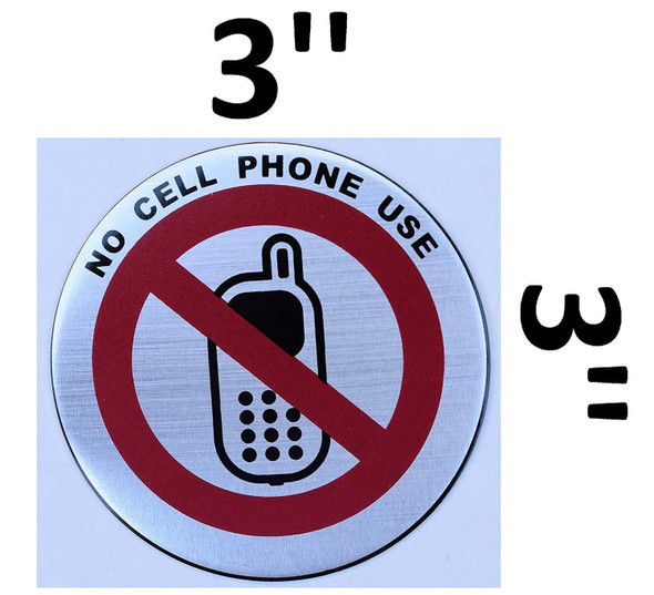 3 Pack - No Cell Phone Our Sticker  Signage