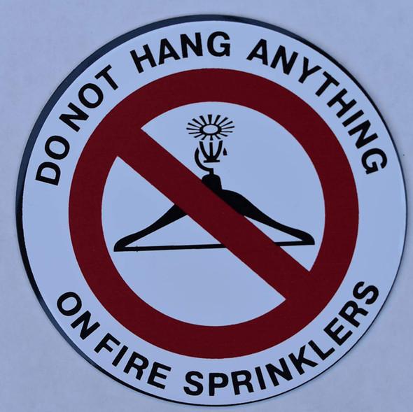 4 Pack - DO NOT Hang Anything ON Sprinkler