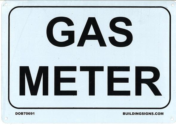 GAS METER  7x10 , Rust