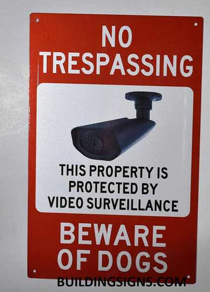 NO TRESPASSING This Property is Protected Sign