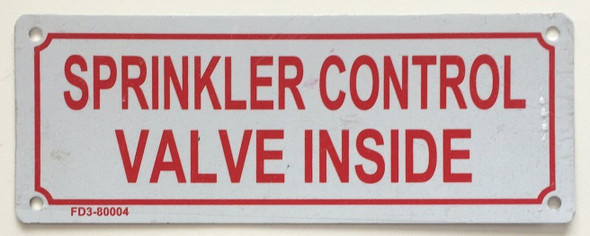 Sprinkler Control Valve Inside  Signage