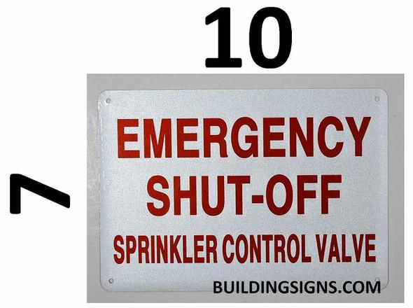 Emergency Shut-Off, Sprinkler Control Valve