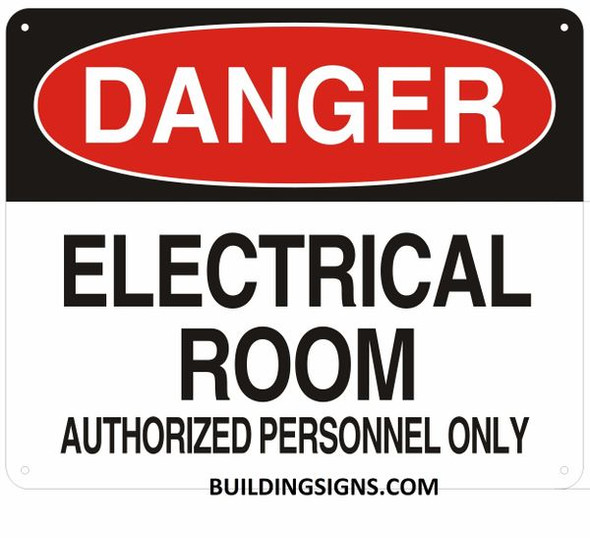 Danger Electrical Room Unauthorized Personnel Keep Sign