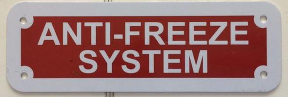 ANTI FREEZE SYSTEM Signage
