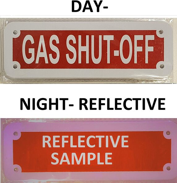 GAS SHUT OFF Signage