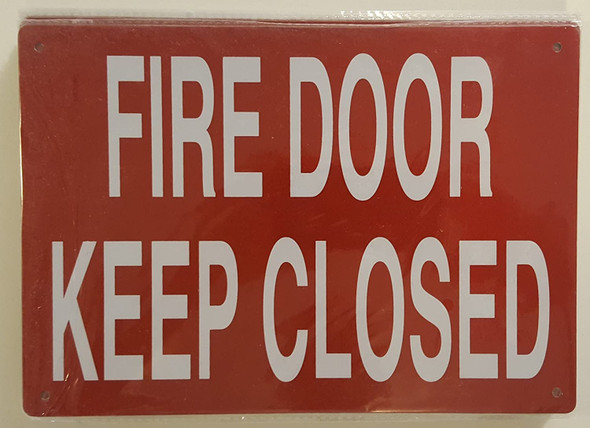FIRE DOOR KEEP CLOSED sinage
