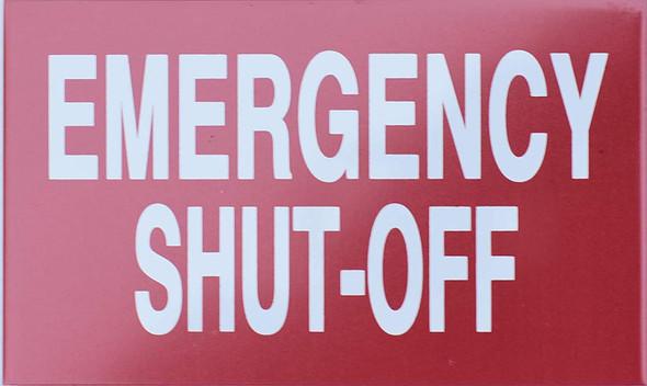 Emergency Shut-Off  Signage Two Sided Tape,