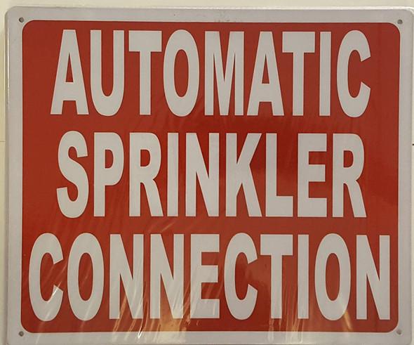 dob AUTOMATIC SPRINKLER CONNECTION  Signage
