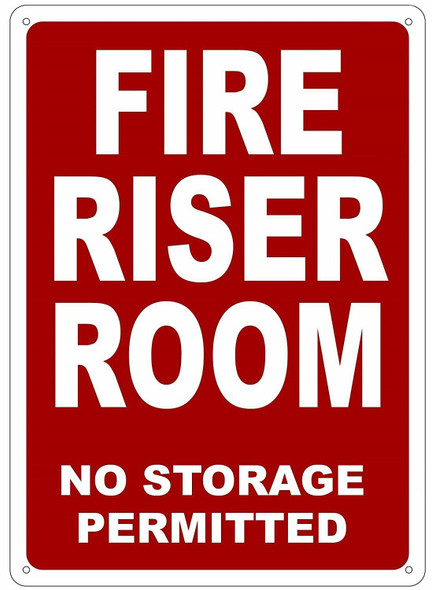 FIRE Riser Room  Signage