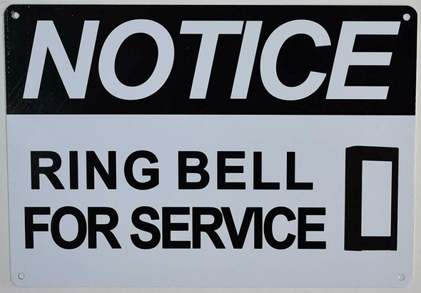 Notice Ring Bell for Service  Signage