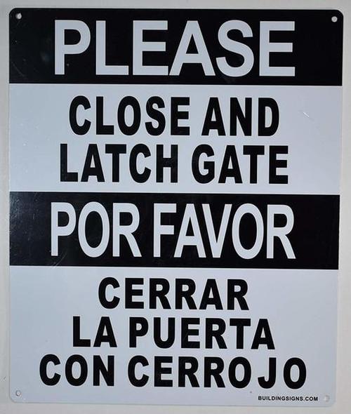 Please Close and Latch Gate