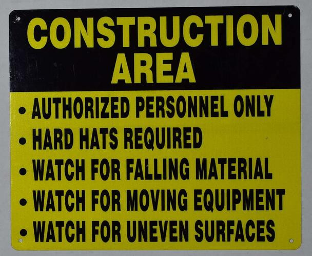 Construction Area Sign rules