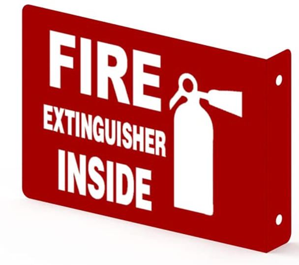 FIRE Extinguisher Inside Projection Sign-FIRE Extinguisher Inside Sign  Aluminium,