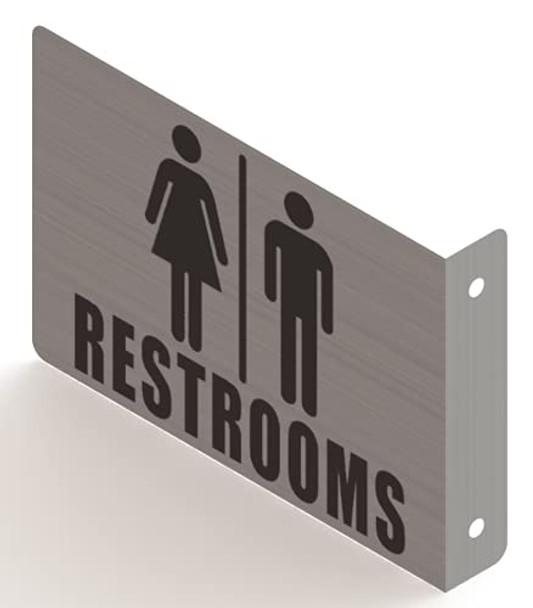 Restroom Projection Sign- Restroom 3D Sign