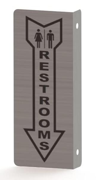 Unisex Restroom Sign Projection Sign- Unisex Restroom Sign Restroom 3D
