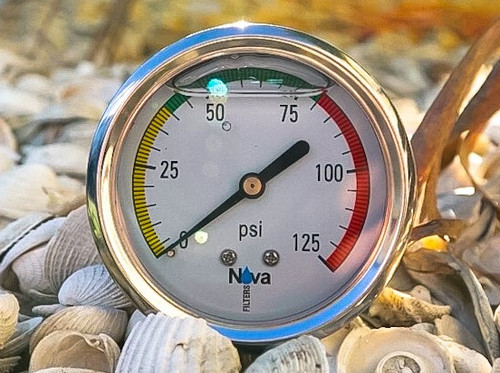 Nova  pressure gauge glycerin filled 0-125 psi